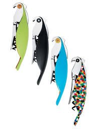 A di Alessi Parrot Sommelier-Style Corkscrew, Multi-Color by Alessi (Image #3)