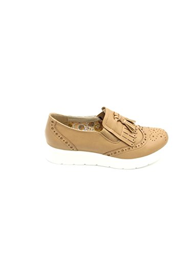 Best Beige Tiziana-Zapatos Stringate bajas de piel-Martina Gabriele shoes Beige