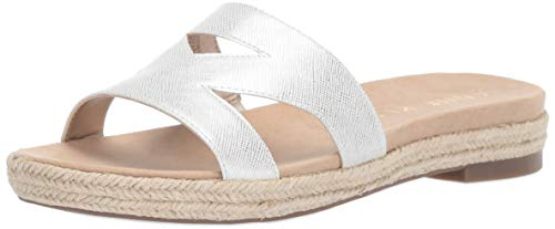 Anne Klein Women's Doris Slide Sandal, White 7.5 M US (Slides Anne Klein)