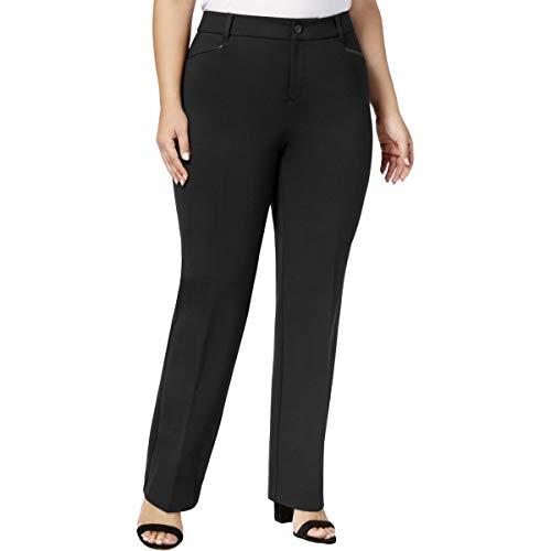 (Charter Club Womens Plus Ponte Business Trouser Pants Black 14W)