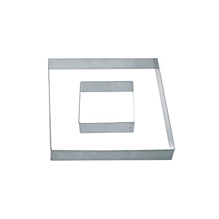 DECORA Square, de acero inoxidable, de plata, de 9 x 9 x 4,5 cm 0063792