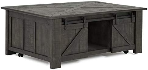 Beaumont Lane Lift Top Coffee Table in Weathered Charcoal