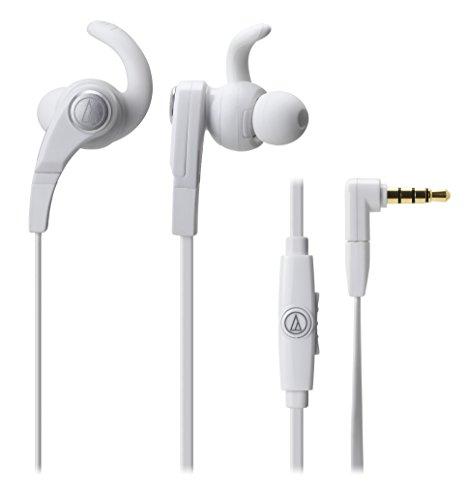 audio-technica SonicFuel in-ear headphones for Smartphones with In-line Mic & Control ATH-CKX7iS WH (White) by Audio-Technica