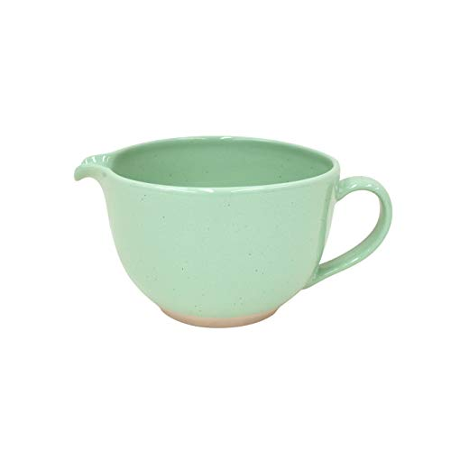 - Casafina Fattoria Collection Stoneware Ceramic Batter Bowl 69 oz, Retro Green