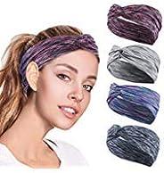 ZIQIAN 4 Pack Women HeadbandS Working out Headbands Sports Hairband for Women Yoga Sports Headband