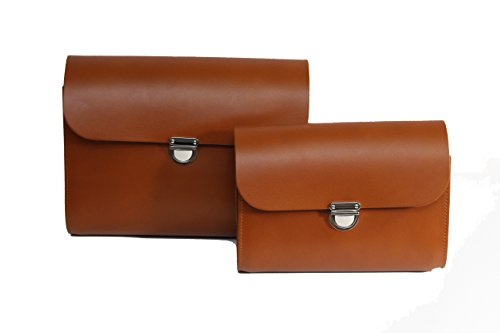 Clasp Small Of With Real Leather Satchel Cross Tan Handbag Body And Closure A Set Large OwIFI