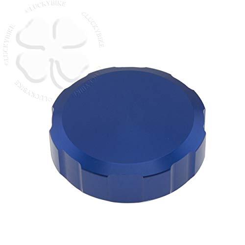 52mm CNC Reservoir Cap Blue For Suzuki GSXR 600 92-14 Lid Fluid Brake Clutch ()