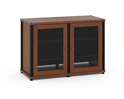 Shelved A/v Cabinet - Salamander Synergy 323 Four-Shelved A/V Cabinet (Cherry/Black)