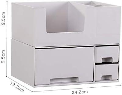 BZM-ZM 新聞ラック化粧品新聞ラック、2層ドレッシングテーブルデスクトップスキンケア製品プラスチックラック(サイズ:24.2 * * 19センチメートル17.2)(カラー:B1)