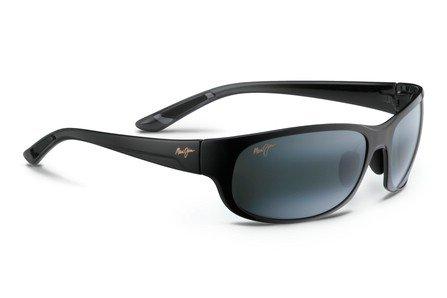 Fade Frame Polarized Grey Lens (Maui Jim Twin Falls Polarized Sunglasses Gloss Black Fade / Neutral Grey One)