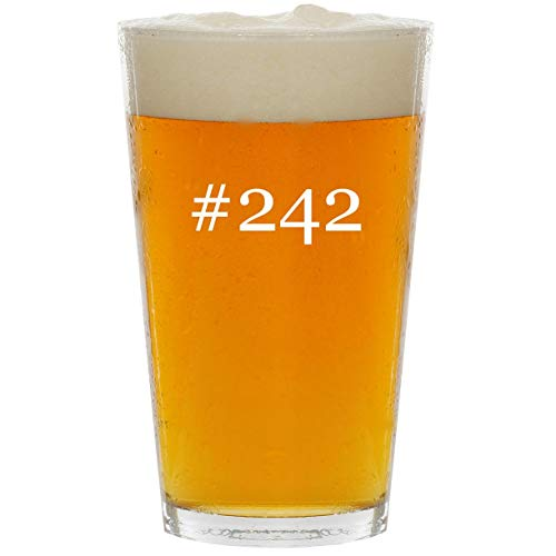 #242 - Glass Hashtag 16oz Beer Pint