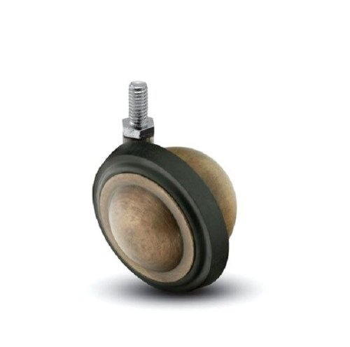 Shepherd-Saturn-Series-3-Diameter-Rubber-Wheel-Swivel-Ball-Caster-38-Diameter-x-34-Length-UNC16-Threaded-Stem-100-lbs-Capacity-Windsor-Antique-Finish