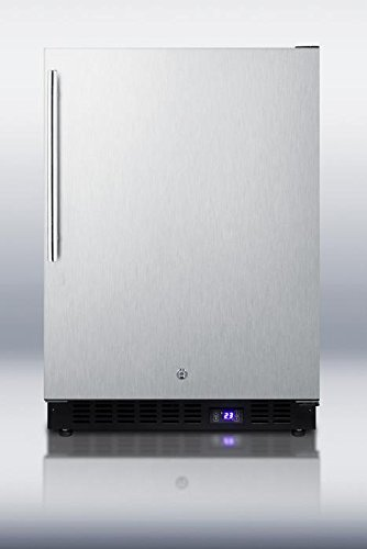 Summit SCFF51OSSSHV Frost-Free Outdoor All-Freezer With Stainless Door And Vertical Handle