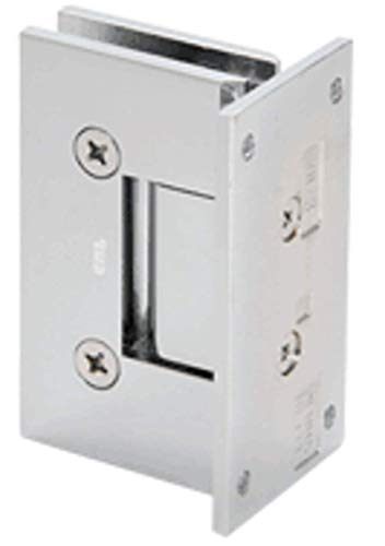 CRL Vienna 037 Series Satin Brass Wall Mount Shower Door Hinge with Internal 5 Degree Pin (Best Hinges For Internal Doors)