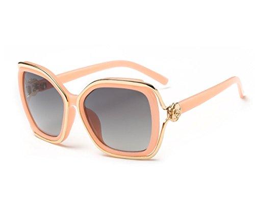 Heartisan Fashion Little Flower Bicolor Full Rim Frame Sunglasses - Sunglasses Wayfarer Bloc