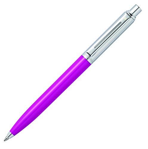 Sheaffer Sentinel Fuchsia Ballpoint Pen with Brushed Chrome Cap