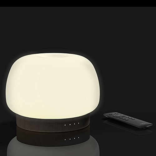 Zoe Aroma Essential Oil Diffuser, Remote control Scent and Fragrance Aromatherapy 500ML Humidifier - Now with Handmade soft glass, FSC Certified Oak Wood, Italian modern Design, Timer, LED Light, Long by Pilgrim Collection (Image #2)