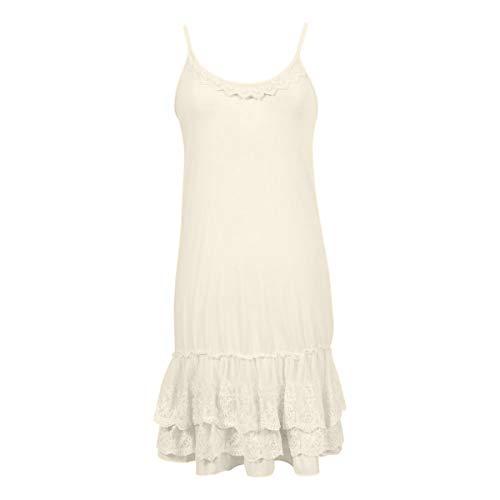 - Peekaboo-Chic Classy vs Sassy Strap Slip Dress Extender (Cream, l/XL)