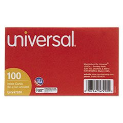 Unruled Index Cards, 3 x 5, White, 100/Pack, Total 100 PK, Sold as 1 Carton