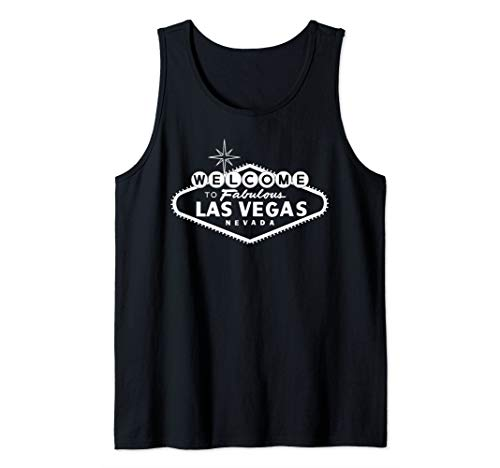 Welcome to Las Vegas Nevada NV Retro Sign Tank Top