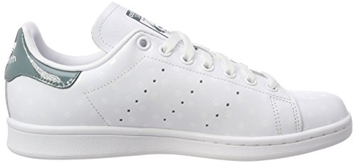 W Green White Blanc De B41624 Chaussures Femme White Adidas Stan Smith Tennis ftwr ftwr raw FqzUE