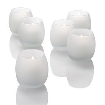 Lot de 72 Petits Bougeoirs Ouragans pour Bougies Votives, Verre Clair Quick Candles