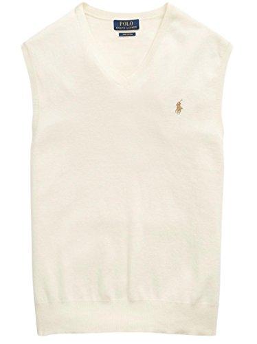 Pima Cotton Vest - Polo Ralph Lauren Men's Pima Cotton Sweater Vest, L, Cresent Cream