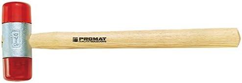 PROMAT 811535 Schonhammer D.50mm 920g CA rot schlagf. m.Holzstiel PROMAT