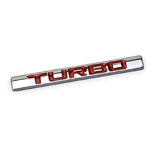 Adhesive Car Badge - Dsycar 3D Metal Car Decoration Metal Adhesive Turbo Truck Car Badge Emblem Sticker for Universal Cars Moto Bike Car Styling Decorative Accessories (Turbo-Red)