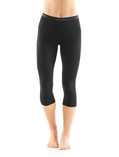 Icebreaker Merino Women's 200 Oasis 3/4 Leggings, Black, Small