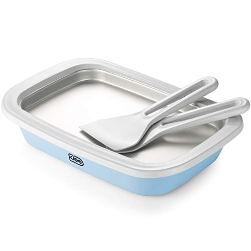 Klee 3-Piece Instant Ice Cream Maker Pan with Ice Cream Spade, Scraper and Recipes (Best Store Bought Ice Cream)