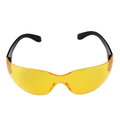 TOOGOO(R) Sport Schutzbrille Augenschutz Brille Laborbrille Kunststoff Gelb Sonnenbrille kHMvji0W