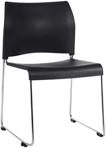 Cafetorium Black Stacking Chair. Chair for Kitchen, Dining, Bedroom, Living Room Side, Party, Ivents, Banquets.