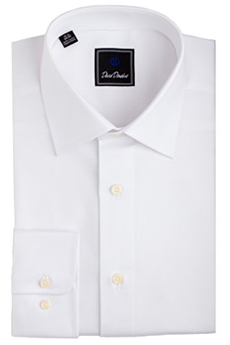 David Donahue Men's Regular Fit Royal Oxford Dress Shirt White 16.5-34/35]()