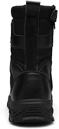 YMXYMM Taktische Stiefel Männer Seite Reißverschluss,Kampfstiefel,Wanderstiefel,Camping Wear-Resistant Zipper Herbst und Winter Unisex Adults 'Army Schuhe,Black-43