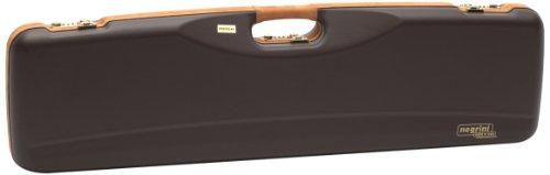 Combo Hard Case - Negrini Cases 1602LX/4707 Shotgun Case for O/U SXS/ABS/1 Gun/1 Barrel up to 32 3/4-Inch, Brown/Brown