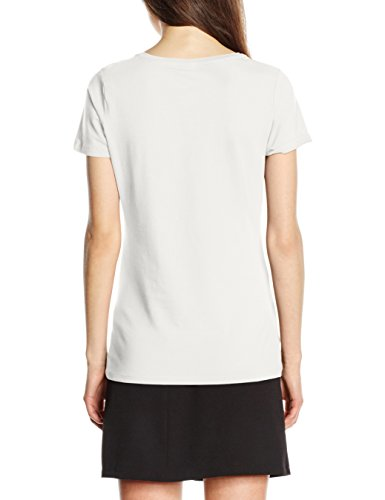 Fruit of the Loom Lady Fit, Camiseta para Mujer blanco