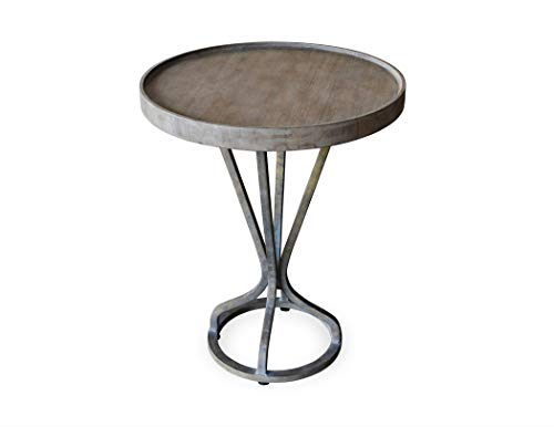 - 222 Fifth 7019GY010AVH57 Vintage Industrial Patina Vie Accent Table