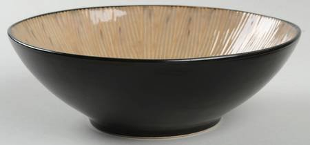 """Z Gallerie Taupe Sumatra Bamboo 7 3/4"""" Bowl for sale  Delivered anywhere in USA"""
