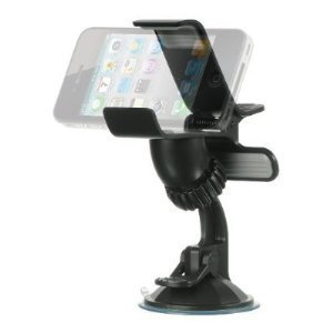PortaCell® Universal Car Mount with main body turn capability that can circumrotate for the LG Optimus Elite/Optimus M+ For Cellphone, MP3 Player, iPhone, iPod Touch, BlackBerry, Droid, GPS Garmin, TomTom, Magellan, Car Navigation Systems + PortaCell Trad