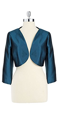 Teri Jon Women's Blue Cropped Bolero Jacket (4)