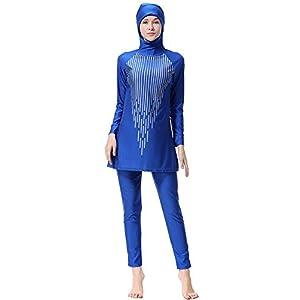 Hijab Full Coverage Bathing Suit Modest Swimwear Swimming Suit Beachwear Bikini Swimsuit with UV Sun Protection