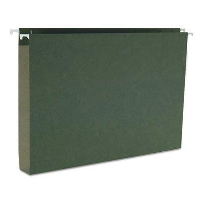 One Inch Capacity Box Bottom Hanging File Folders, Legal, Green, 25/Box, Total 125 EA