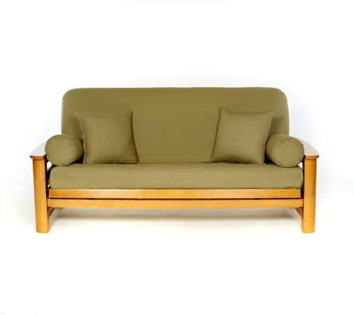 Lifestyle Covers 100% Cotton Olive Full Size Futon Cover