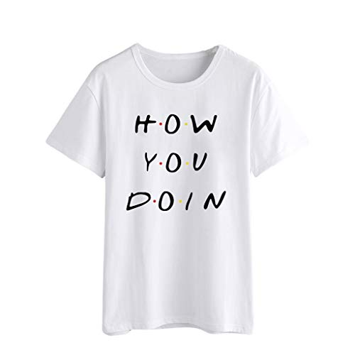 Zackate Womens Casual Letters Printed T Shirt Summer O-Neck Short Sleeve Top Blouse Sweatshirts Tee XS-4XL White by Zackate_Women Sweatshirts (Image #6)