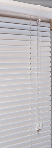 Lotus & Windoware 1 PVC Miniblind, 34 by 36-Inch, White Window Treatments; Blinds,