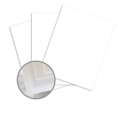 Via Laid Pure White Paper - 8 1/2 x 11 in 24 lb Writing Laid 500 per Ream Pure White 24 Lb Writing