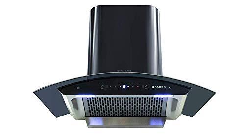 Faber 90 cm 1200 m3/hr Heat Auto Clean Chimney (HOOD CREST HC SC BK 90, Filterless, Touch & Gesture...