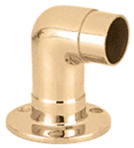 C.R. LAURENCE HR15QPB CRL Polished Brass Flush Wall Return for 1-1/2