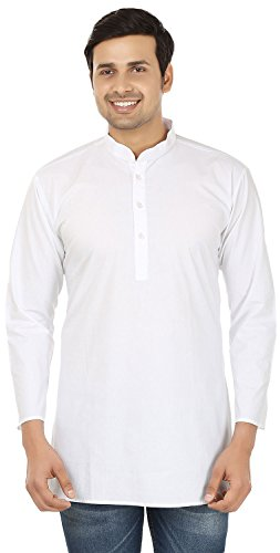 Cotton Dress Mens Short Kurta Shirt India Fashion Clothes ()